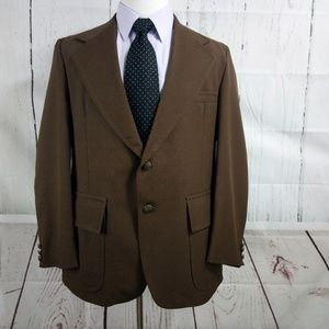Towncraft JC Penney 41R Brown Suit Blazer Sports C